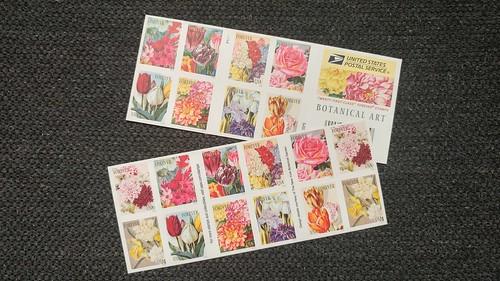 USPS Botanical Art Stamps