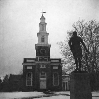 Hamilton College Chapel and statue of Alexander Hamilton, Svema film | by chuckthewriter
