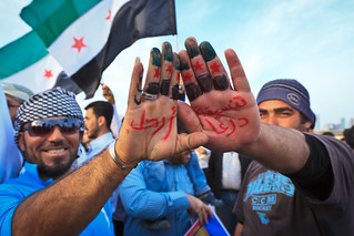 Doha residents call for Al-Assad to go | by Omar Chatriwala
