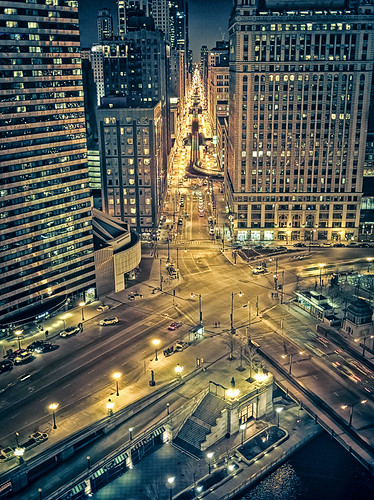 looking south down wabash ave from 16th floor trump tower