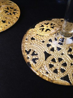 12 Gilded Lace Champagne Glasses | by fabricpaperglue