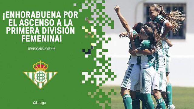La UD Tacuense y el Real Betis Balompié Féminas, ascienden a Primera División