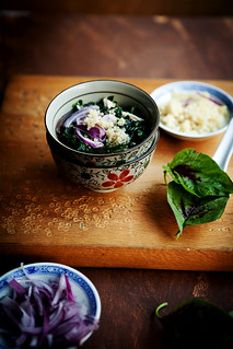Poached chicken soup with amaranth greens and quinoa | by anhsphoto_busy!!