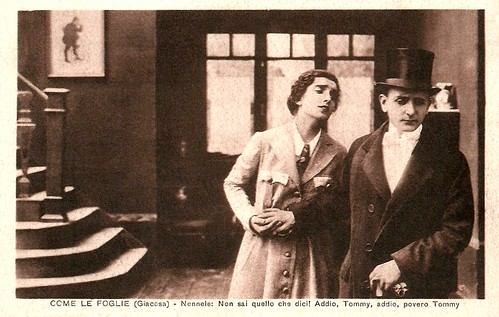 Maria Jacobini and Alberto Collo in Come le foglie (1917)