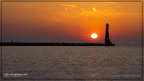 Muskegon Beach Sunset - March 14th, 2012 | by gbozik photography