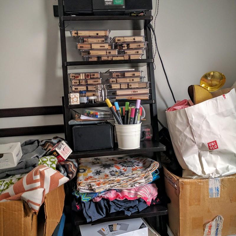 Desk craft room tour