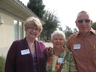 Carla Riley '85, Marlys Thorstad Charles '54, Ted Storck '54 | by University of Minnesota, Morris Alumni Association