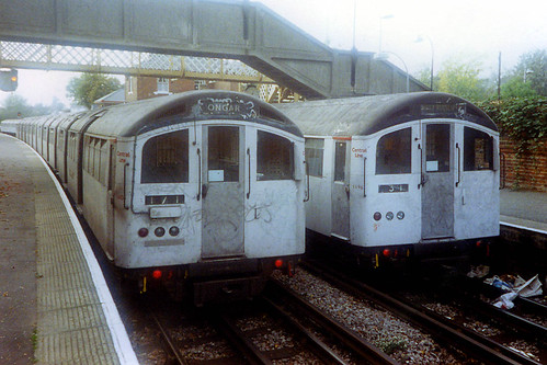London Underground - Central Line - 1962 stock at Epping