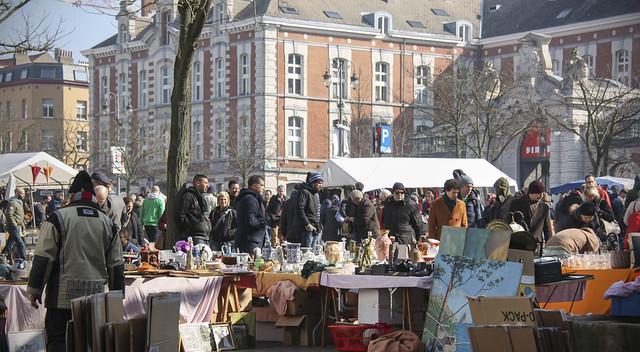 Marolles Flea Market, Place du Jeu de Balle, Brussels