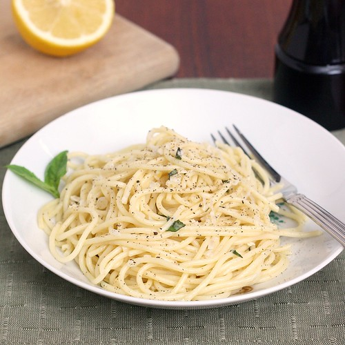 Spaghetti with Lemon and Olive Oil (al Limone) | by Tracey's Culinary Adventures