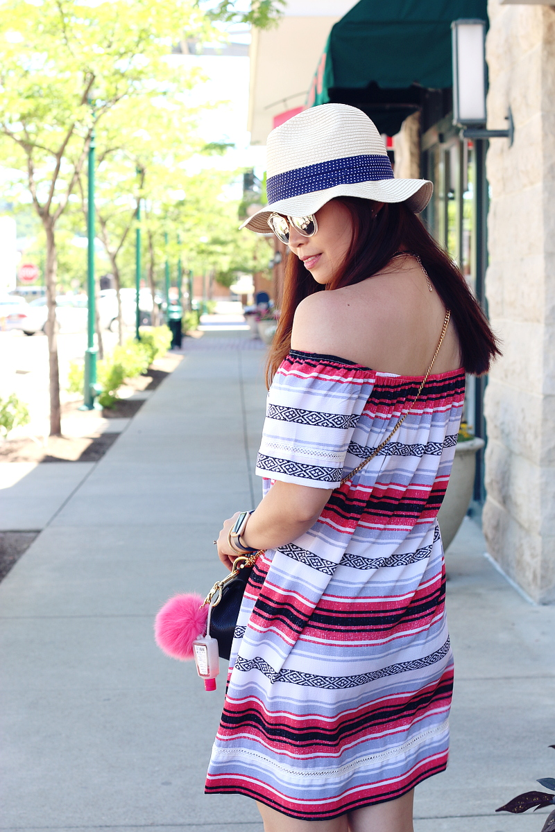 stripe-dress-summer-outfit-hat-7