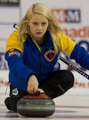 Napanee, ON Feb 11 2011 M&M Canadian Juniors Team AB Skip Jocelyn Peterman. Michael Burns Photo Ltd. | by seasonofchampions