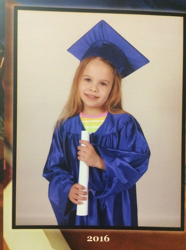 Lucy's pre-k graduation photo