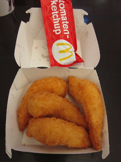 Fried shrimp at McDonald's Schipol | by chuvaness