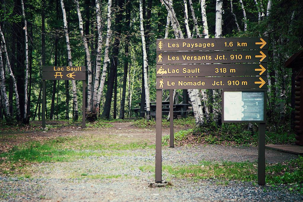 Les choix de sentiers pédestre au parc d'Aiguebelle