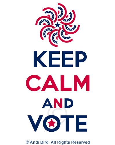 Keep Calm and Vote t graphic | by birdarts