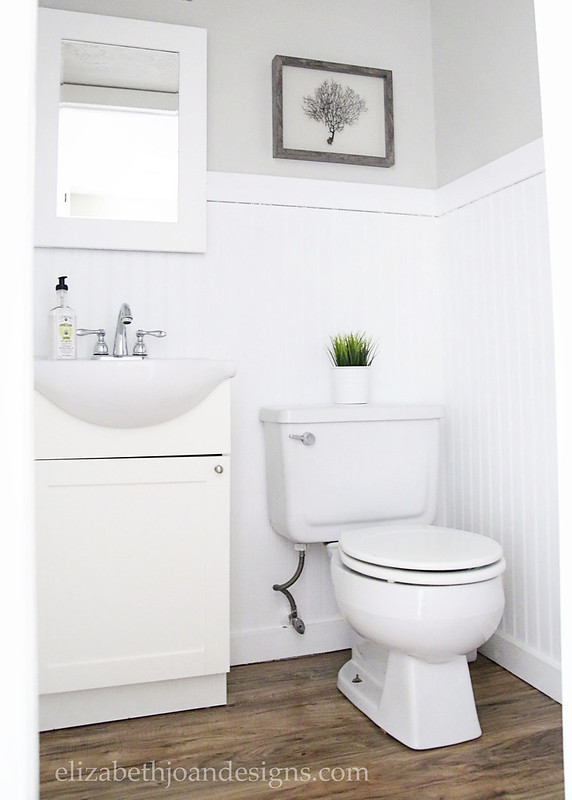 Gray Powder Room Makeover