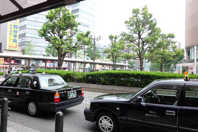 japan taxi flag down