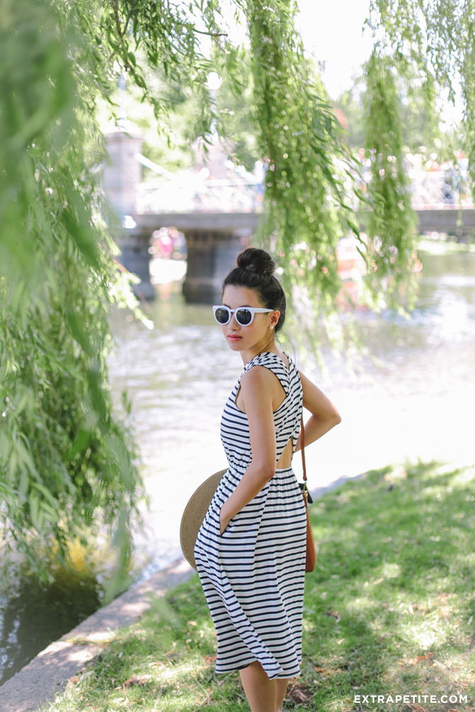 striped loft summer dress outfit
