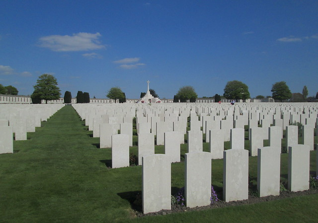 Tyne Cot Cemetery, View Towards Memorial Wall