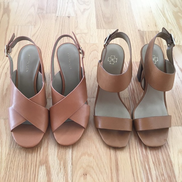 Ann Taylor Louisa Block Heel Leather Sandals Review