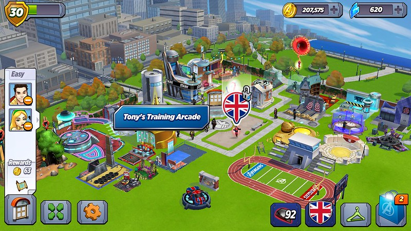 MARVEL Avengers Academy zoom-out trick