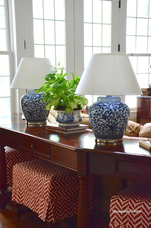 Blue and White/Sofa Table - Housepitality Designs