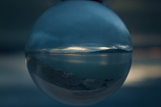 Utah Lake Sunset thru Crystal Ball | by Adam's Attempt (at a good photo)
