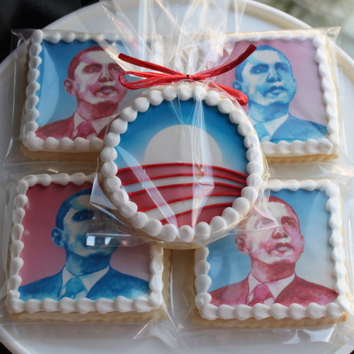 Obama Portrait Cookies | by Whipped Bakeshop