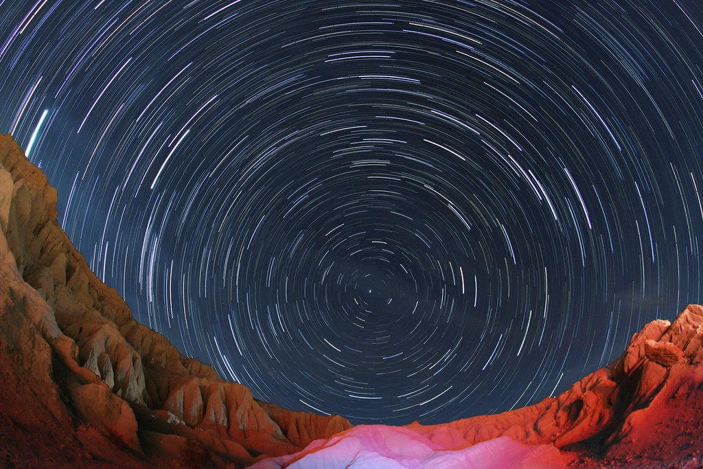 Red Rock Canyon Star Trail
