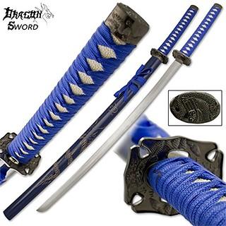 Samurai-sword-dragon-katana-blue