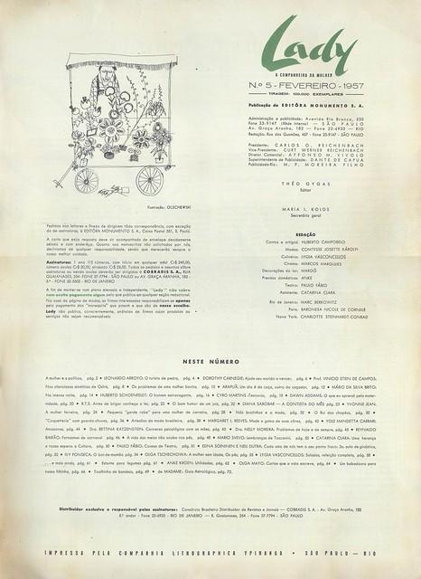 Lady, Nº 5, Fevereiro 1957 - 2