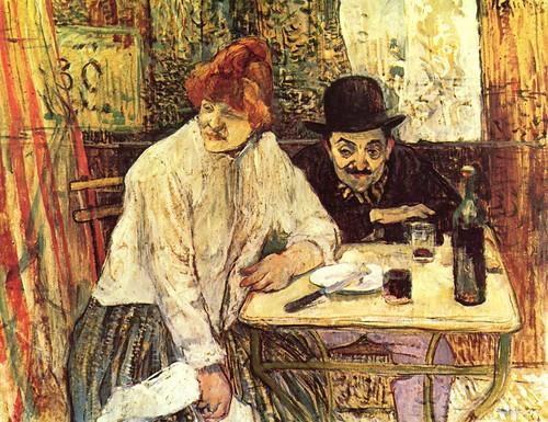 a painting by Henri de Toulouse-Lautrec