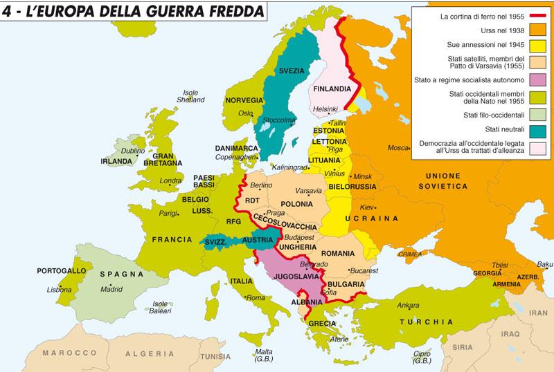 La cortina di ferro la disfatta dell europa dell est 1944 - Mappa di ungheria ed europa ...