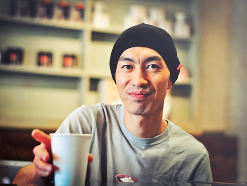 Hiroshi Sawada, 2008 Milrock Latte Art Champion at Coffee Bar L.A. ~ Latte Art Fundraiser for Coffee Kids | by r.e. ~