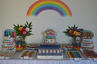 Rainbow Party Table | by Taste of Luxury