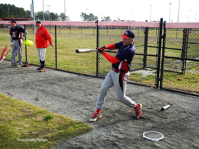 Tom at Batting Practice - Housepitality Designs