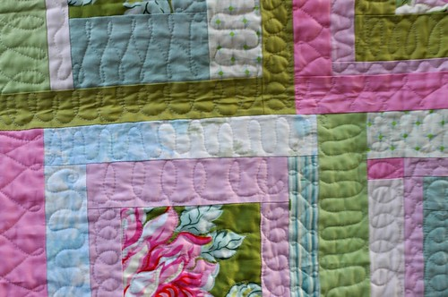 quilting closeup, rose baby quilt | by vickivictoria