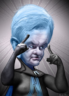 Newt Gingrich - megaNewt Caricature | by DonkeyHotey