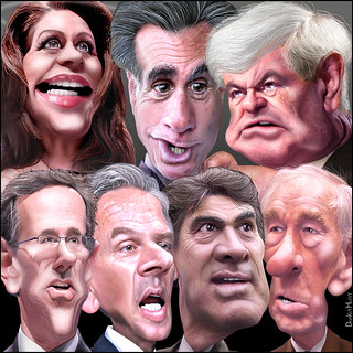 GOP Presidential Debate December 15, 2011 in Sioux City, Iowa | by DonkeyHotey