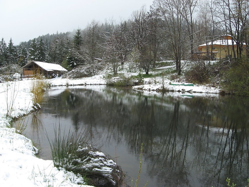 Pond in winter | by White Oak Farm & Education Center