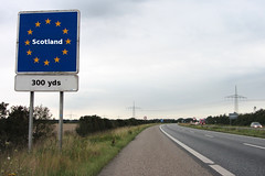 Driving into Scotland after 2018