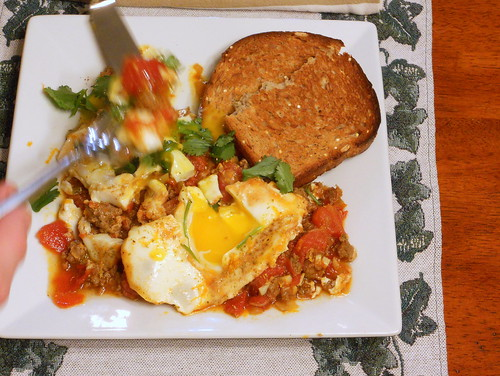 Moroccan Merguez Ragout with Poached Eggs | the first recipe ...