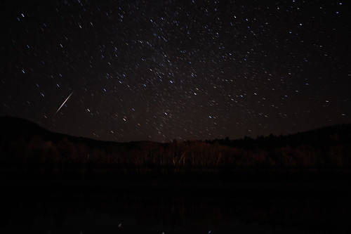 Sacandaga Lake, N.Y. Star Trails Dec 25 2011 w shooting star | by chuckthewriter