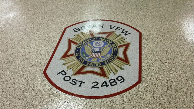 Bryan Ohio VFW Epoxy Chip & Logo