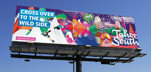 "Tahoe South ""Wild Side"" billboard 