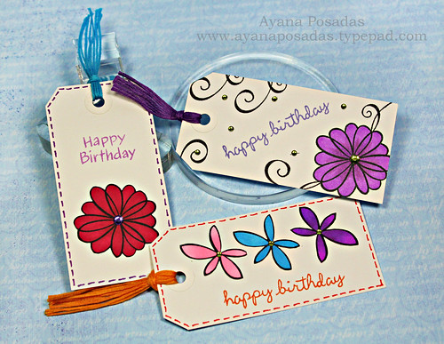 Flower Birthday Tags | by AyanaP.