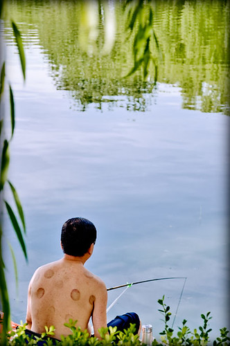 El pescador de la espalda moteada/The fisherman spotted back/中式垂钓 | by daperal