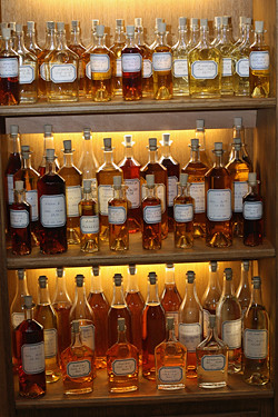 cognac bottles | by David Lebovitz