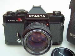 Konica Autoreflex T3 (1973), 35mm SLR + Hexanon AR 50mm F1.4